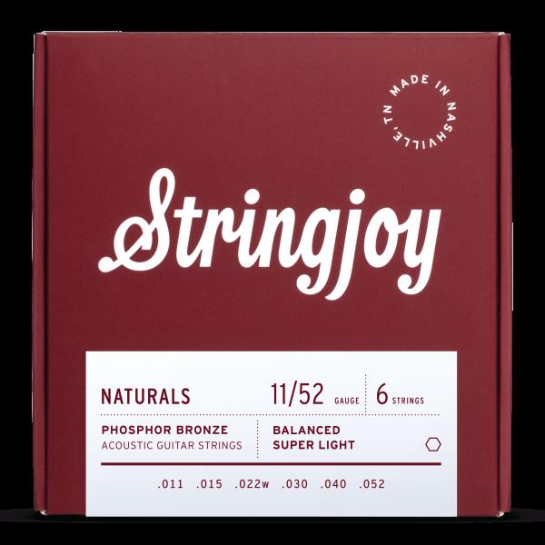 Stringjoy Naturals Super Light (11-52) Phosphor Bronze Acoustic Strings
