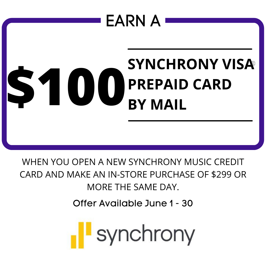 Spend $299 or more, open a Synchrony Account the same day and earn a $100 prepaid visa card.