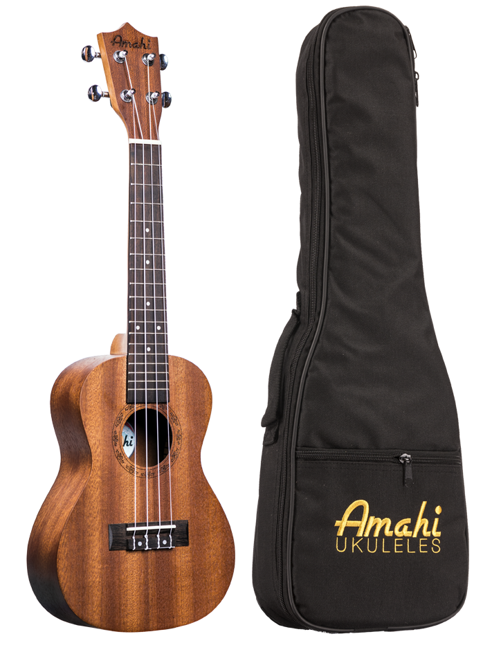 Mahogany Concert Uke with Deluxe Bag