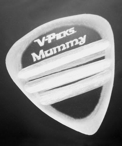 Mummy Guitar Pick Clear