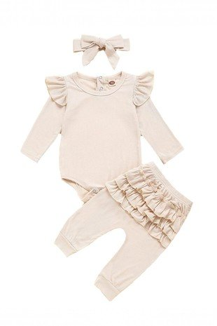 Ruffled Onesie and Legging Set