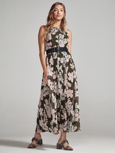 Olive Floral Maxi