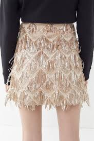 Sequin Feather Skirt