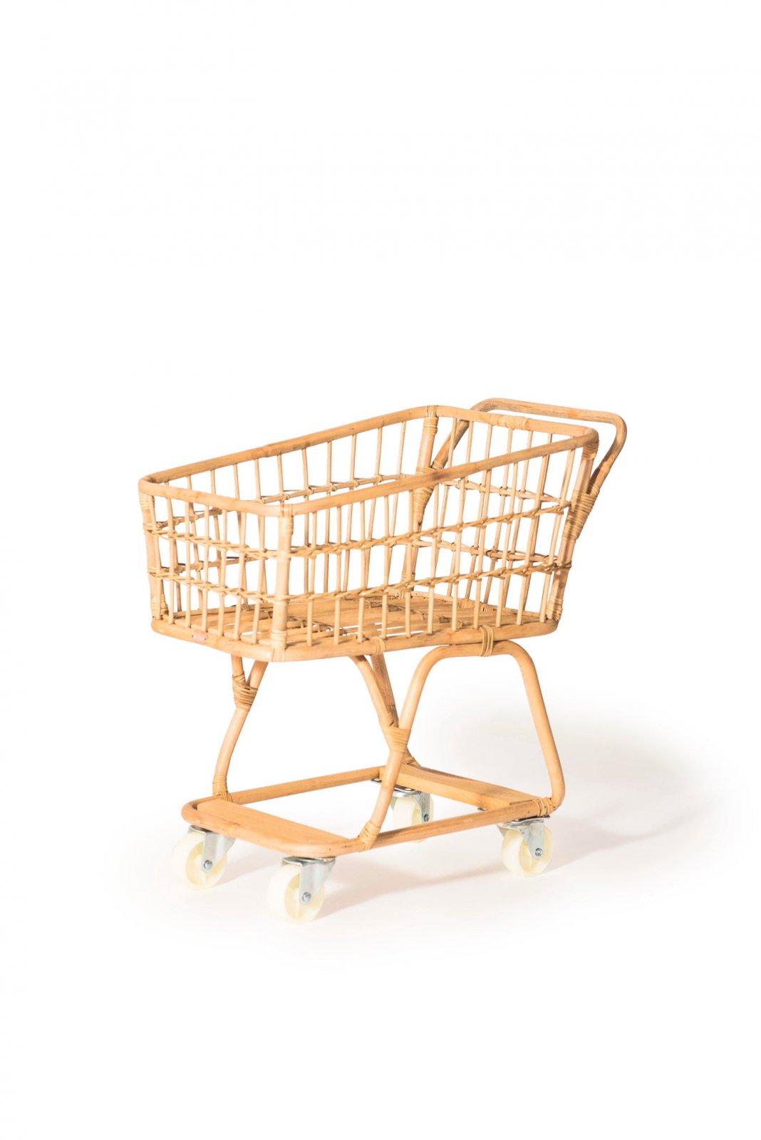 Rattan Shopping Cart