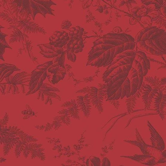 Braveheart Crimson Toile  A-9174-R by Laundry Basket Quilts