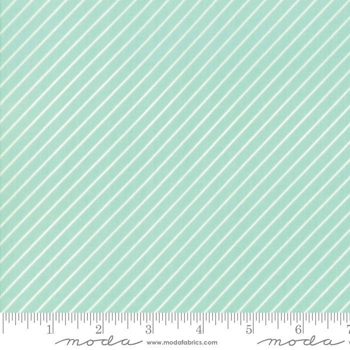 Early Bird Stripe Aqua by Bonnie & Camille for MODA 55196-12