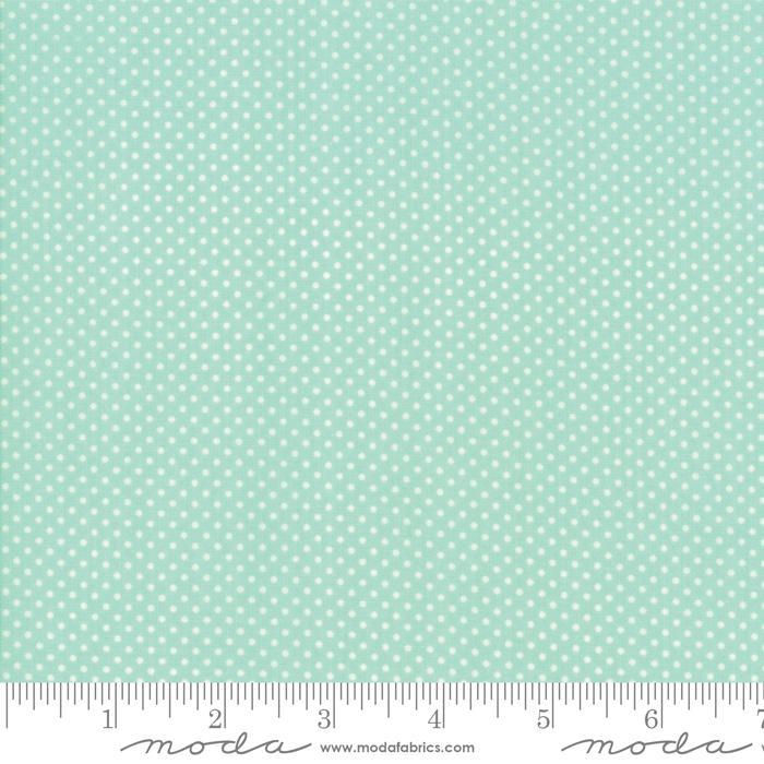 Early Bird Dots Aqua by Bonnie & Camille for MODA 55195-12