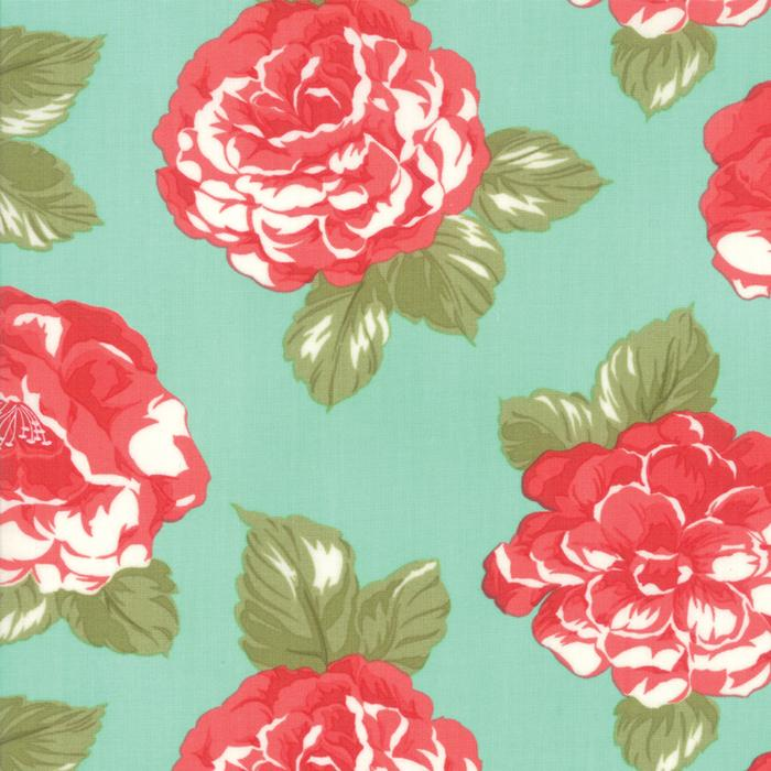 Early Bird Blooms Aqua by Bonnie & Camille for MODA 55190-12