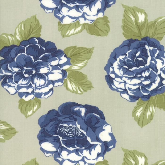 Early Bird Blooms Gray by Bonnie & Camille for MODA 55190-14