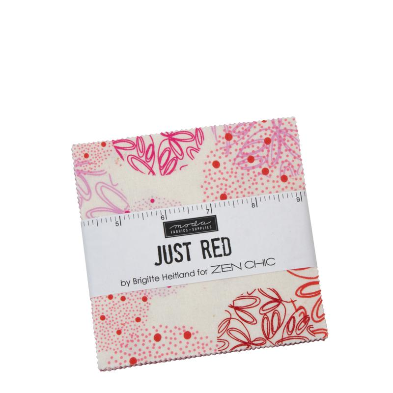 Just Red Charm Pack by Zen Chic for MODA Fabrics