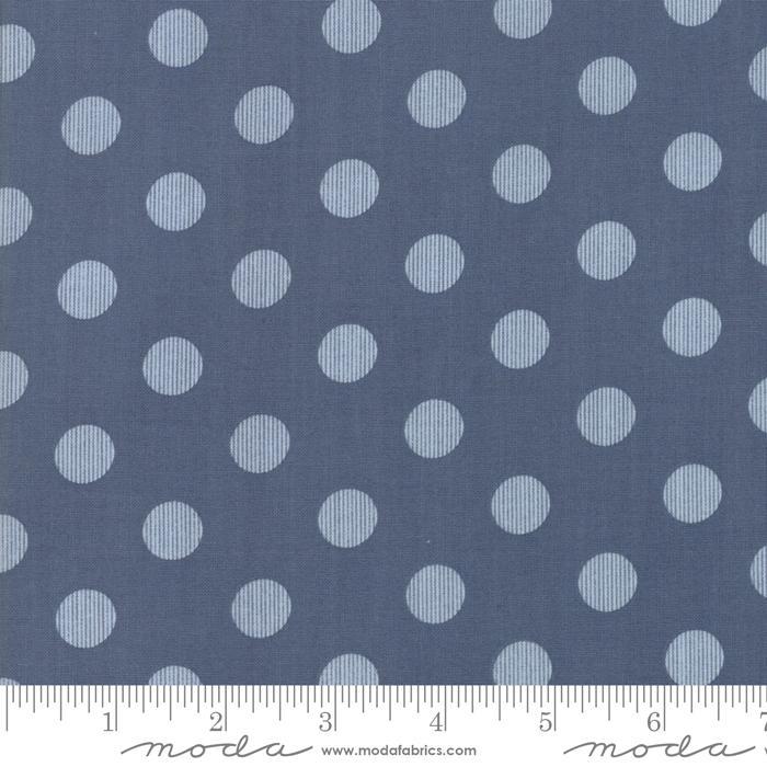 Harvest Road by Lella Boutique Modern Dots Indigo Blue 5103-16