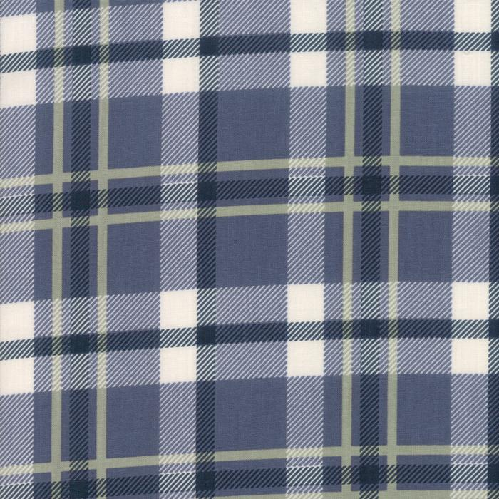 Harvest Road by Lella Boutique Forever Plaid Indigo Blue 5102-16