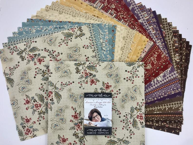 Susanna's Scraps 1830-1875 Layer Cake by Betsy Chutchian for Moda fabrics