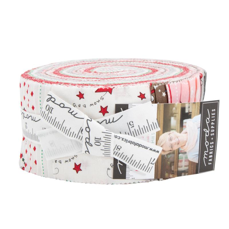 Merry Merry Snow Days Jelly Roll by Bunny Hill Designs for MODA