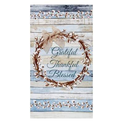 24# Cotton Blossom Grateful Wreath Panel C7175-Multi