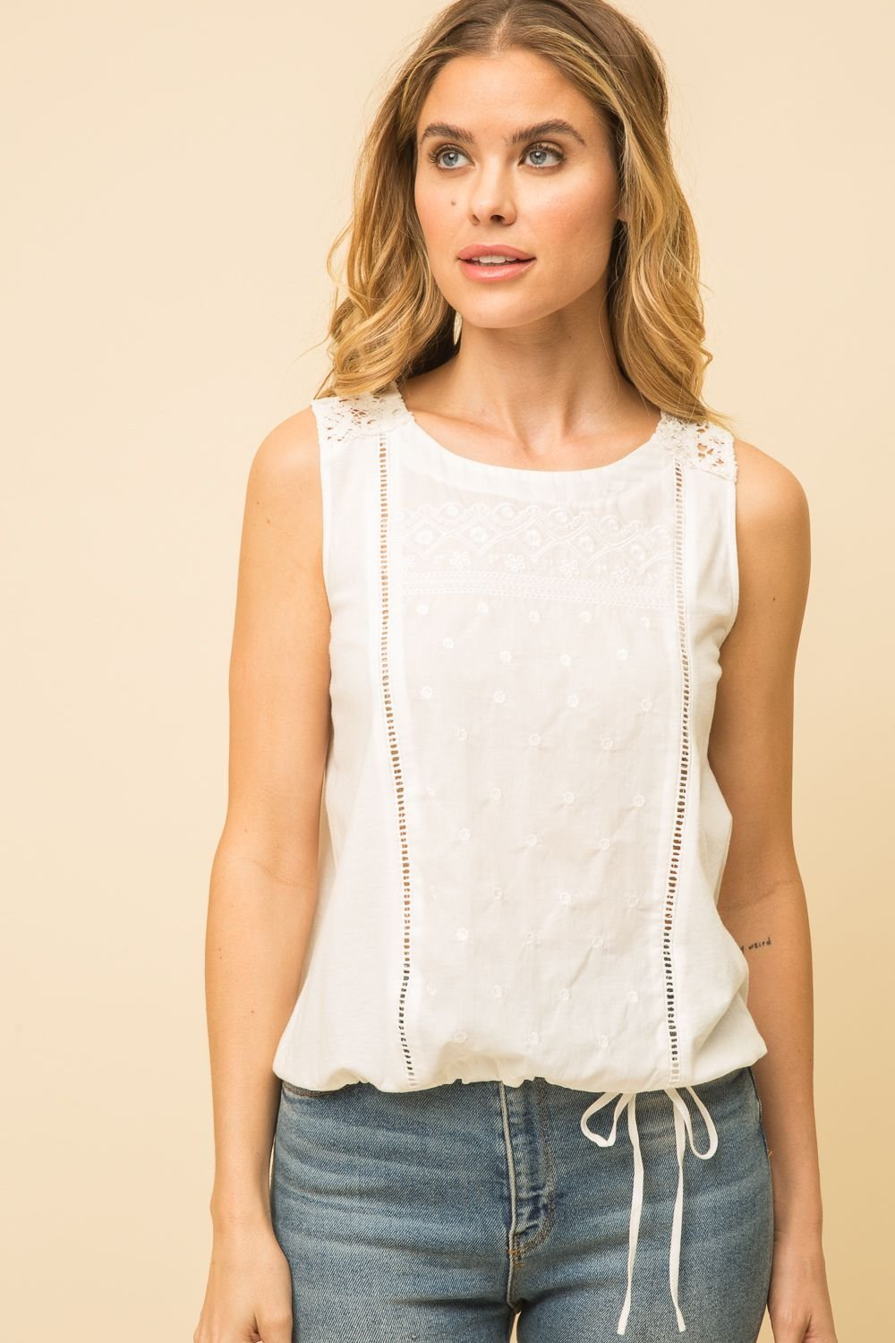 Lace Inset Tank from Mystree