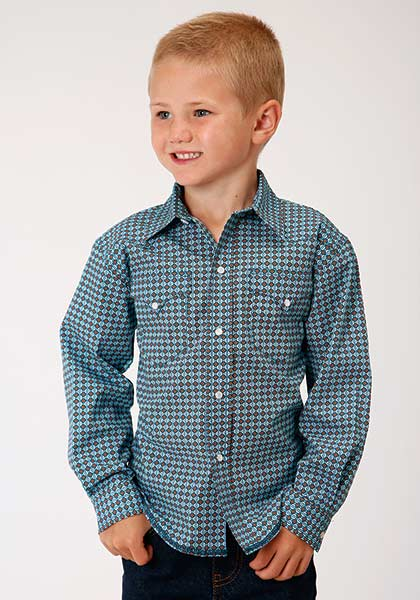 Boys Long Sleeve Pearl Snap Woven from Roper