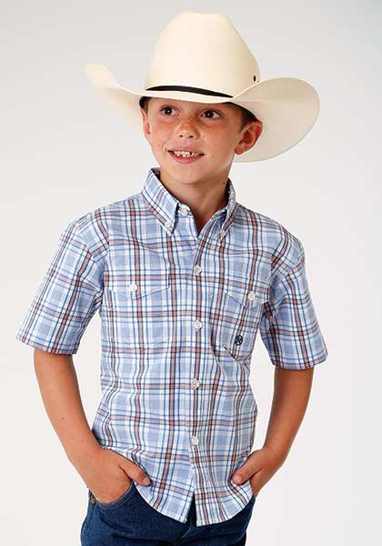 Short Sleeve Plaid Woven from Roper