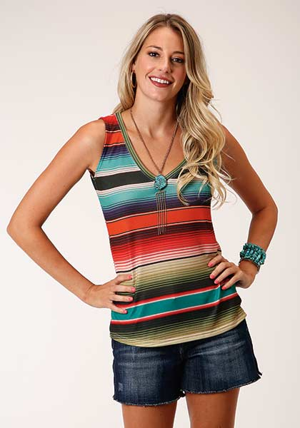 Serape Stripe Tank from Roper
