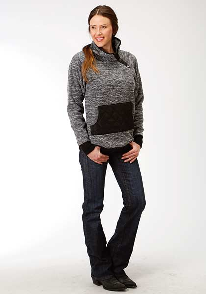 Micro Fleece Side Snap Neck Jacket