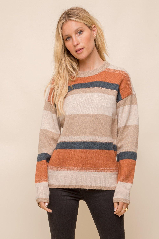 Multi Color Stripe Sweater from Hem & Thread