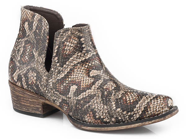 Snake Print Ankle Boot from Roper
