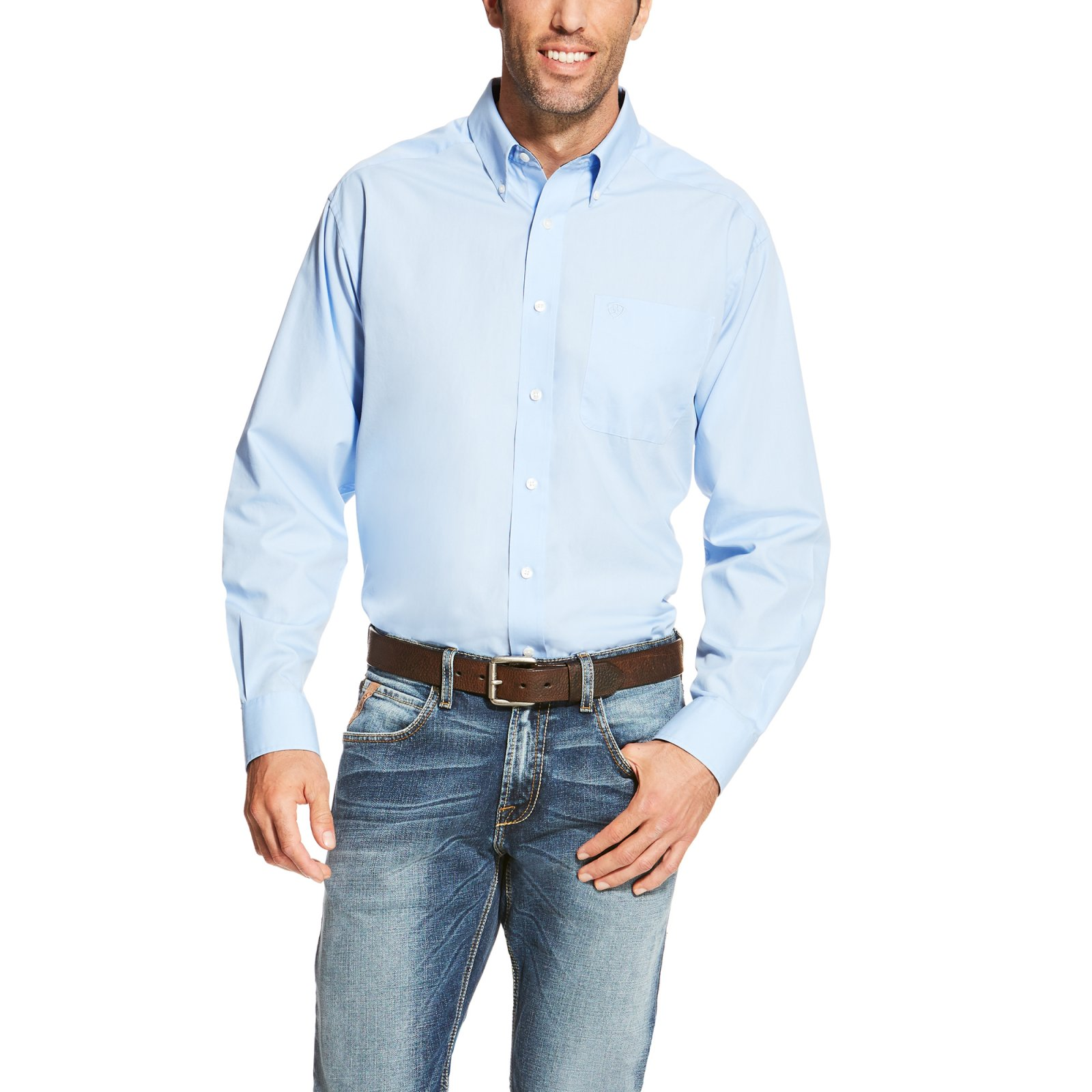 Men's Wrinkle Free Long Sleeve Woven from Ariat