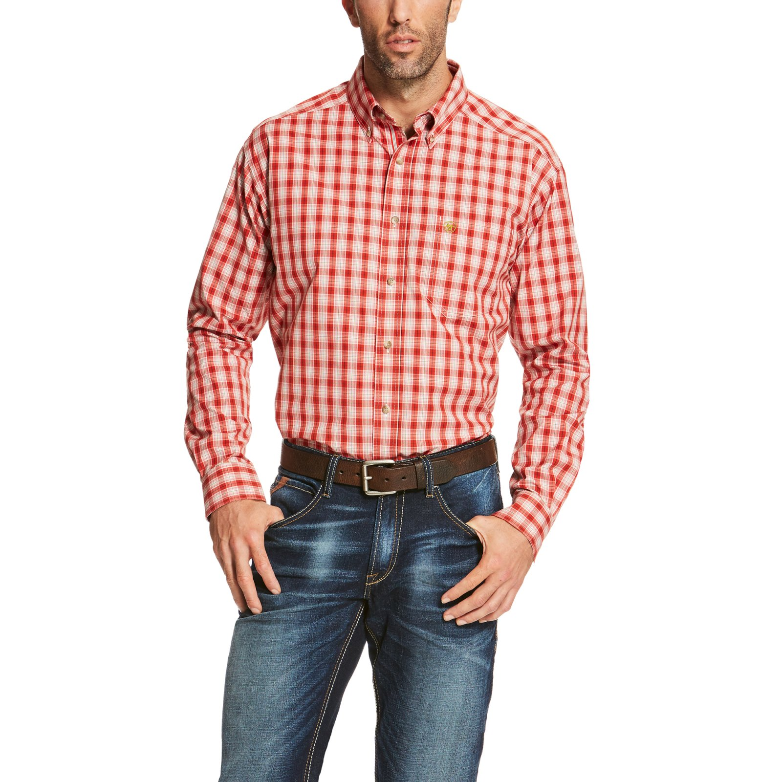 Men's Scranton Plaid Long Sleeve Performance Woven from Ariat