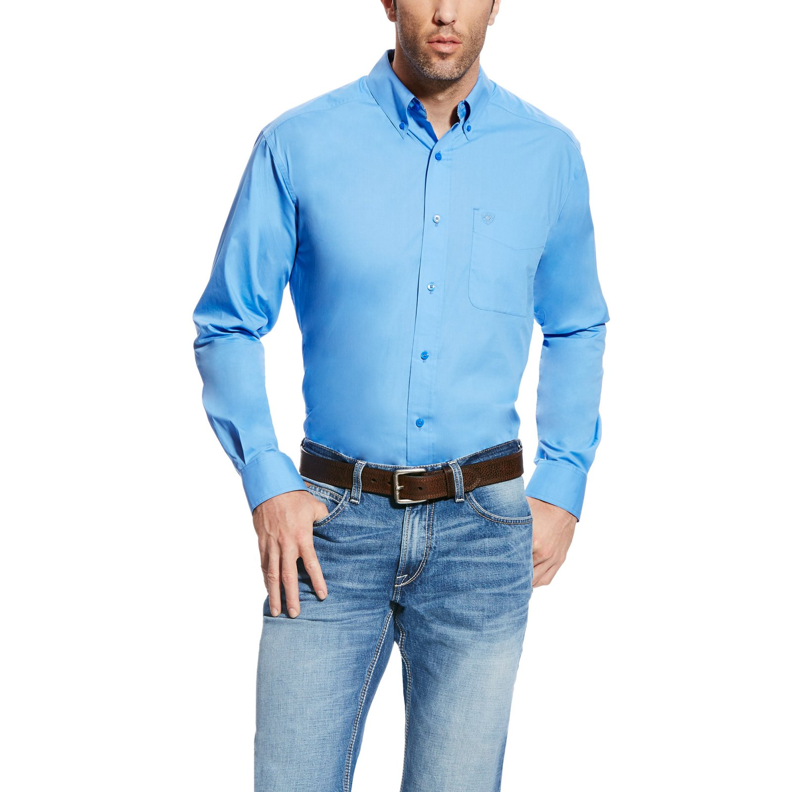 Men's Long Sleeve Poplin Woven from Ariat
