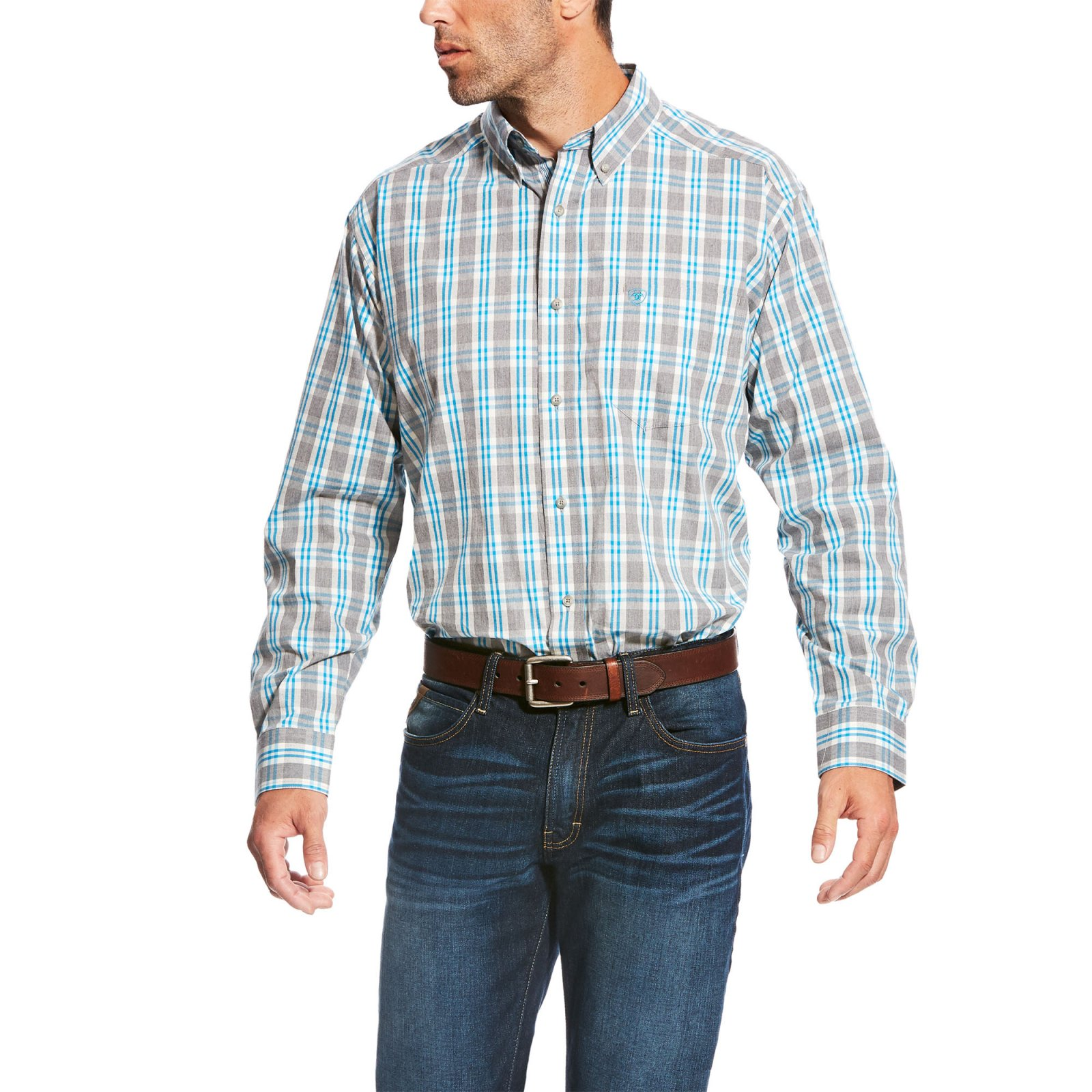 Men's Lucerne Long Sleeve Performance Woven from Ariat