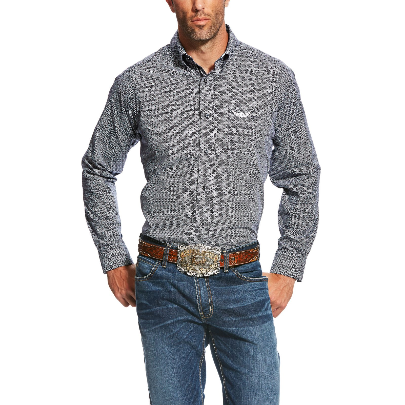 Men's Relentless Supreme Long Sleeve Printed Woven from Ariat