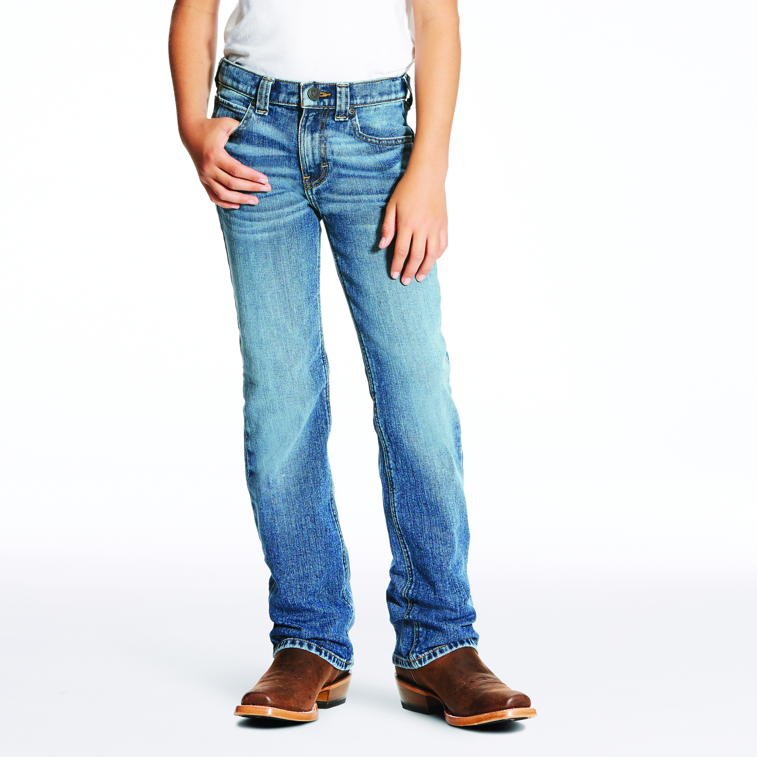 Boys B4 Relaxed Fit Denim from Ariat