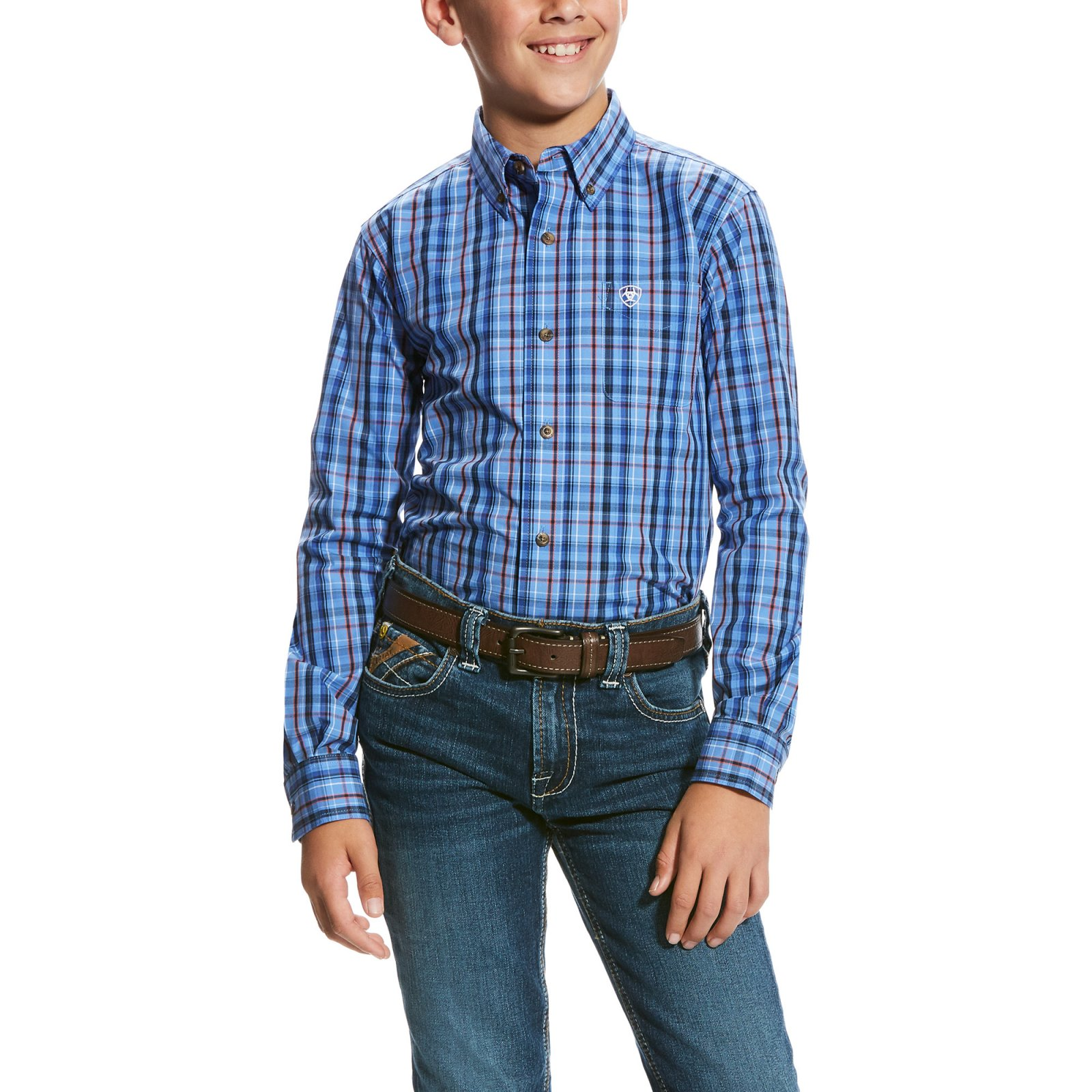 Boy's Paco Long Sleeve Performance Woven from Ariat