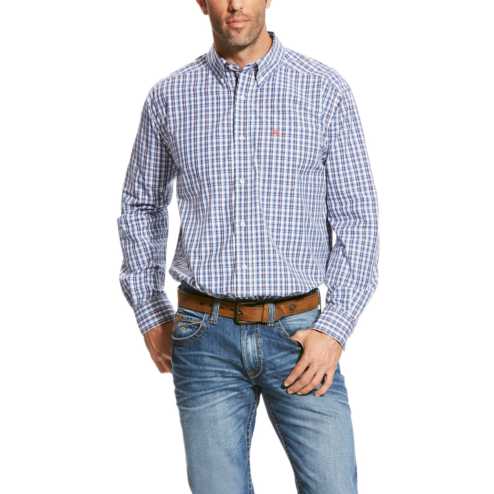 Men's Taberias Plaid Long Sleeve Performance Woven from Ariat