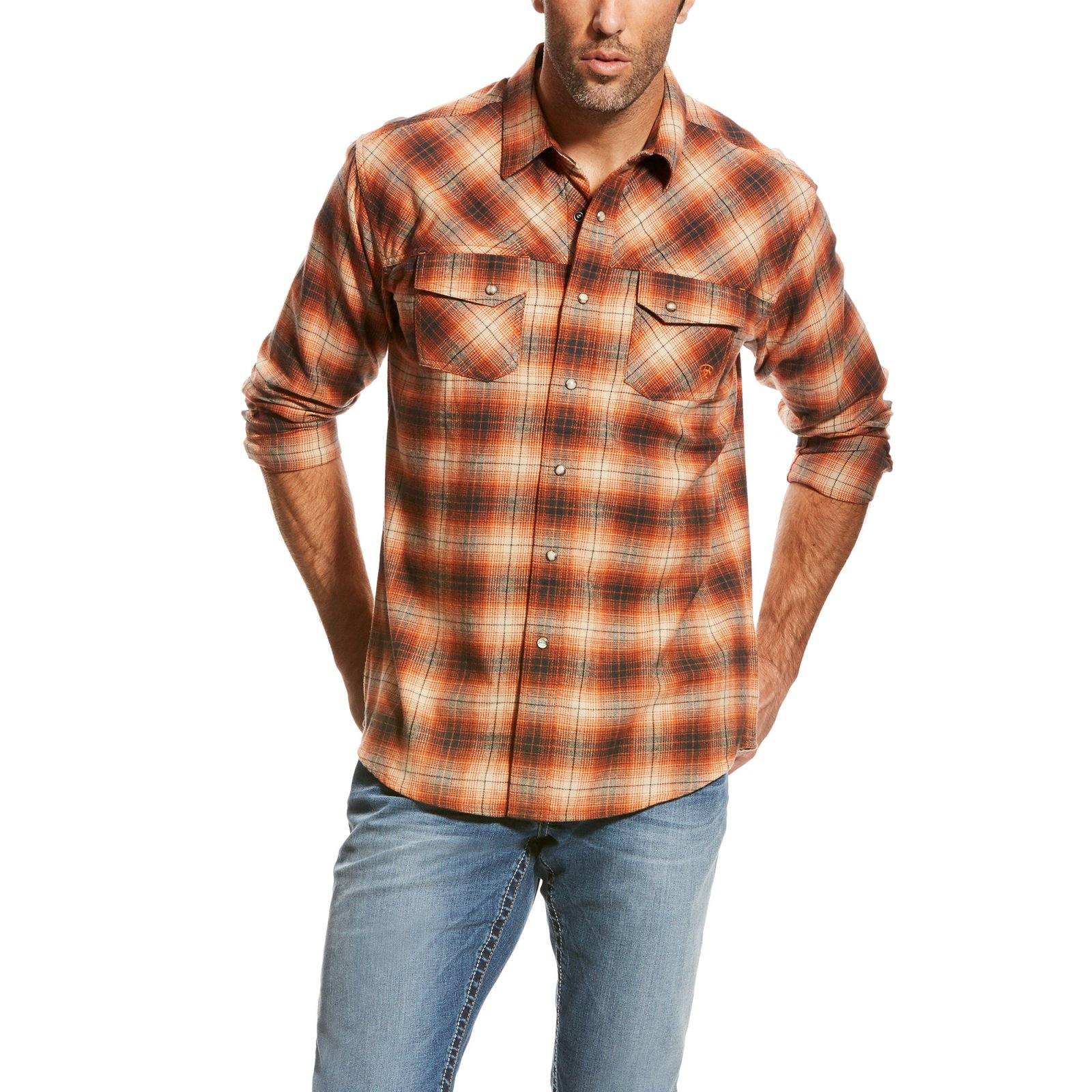 Men's Wade Retro Long Sleeve Woven from Ariat