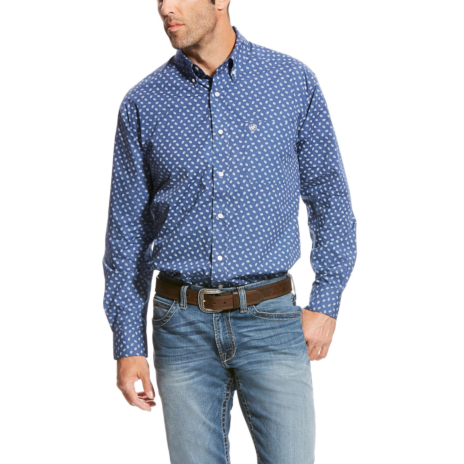 Men's Tamplin Long Sleeve Printed Woven from Ariat