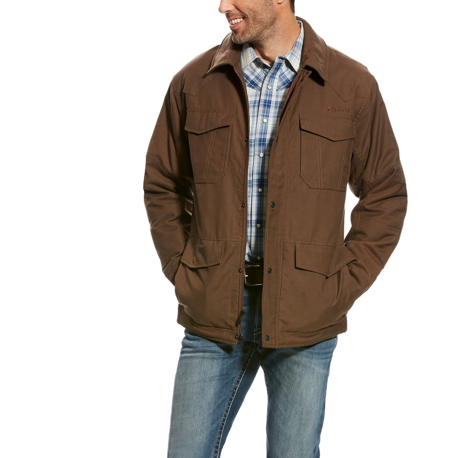Men's Waggoner Canvas Jacket from Ariat