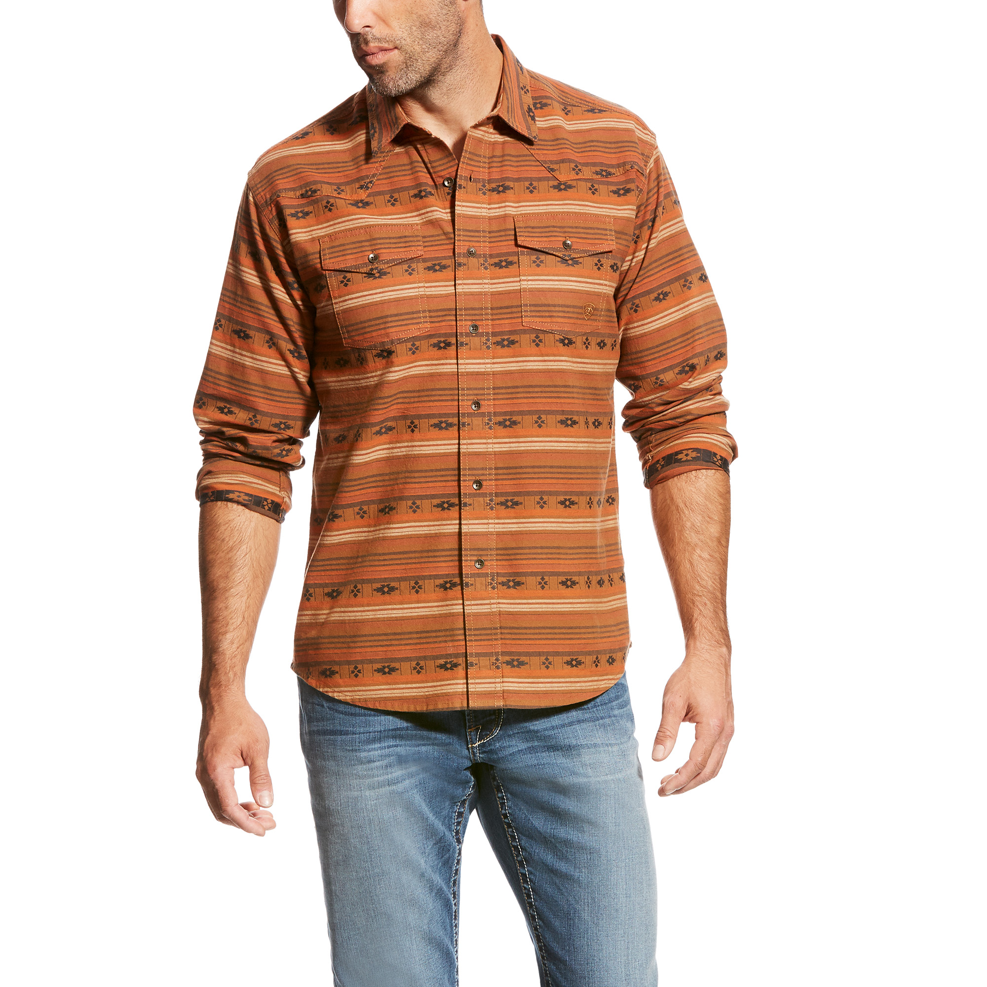Men's Wagnor Retro Long Sleeve Woven from Ariat