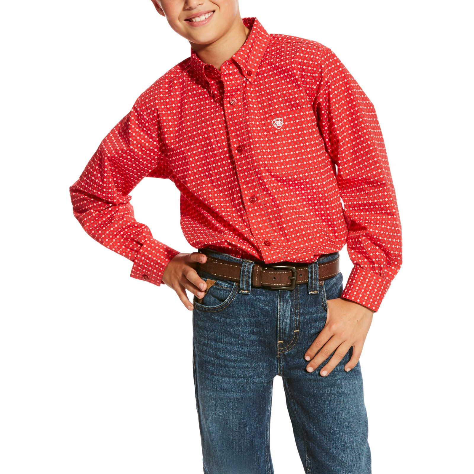 Boy's Carmine Long Sleeve Woven from Ariat
