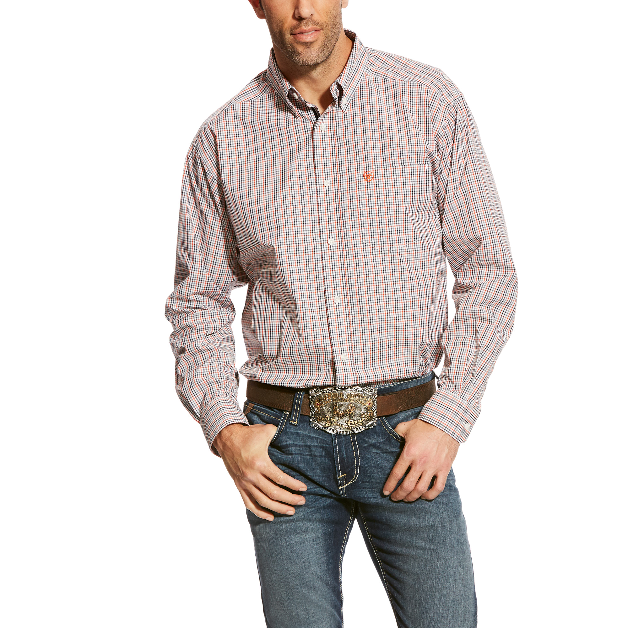 Men's Calahan Long Sleeve Performance Woven from Ariat
