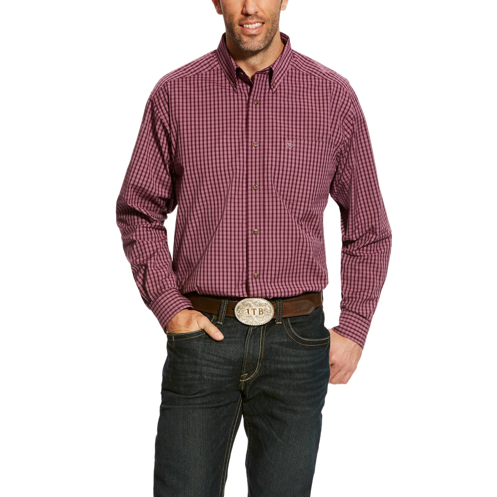 Men's Aberson Long Sleeve Performance Woven from Ariat