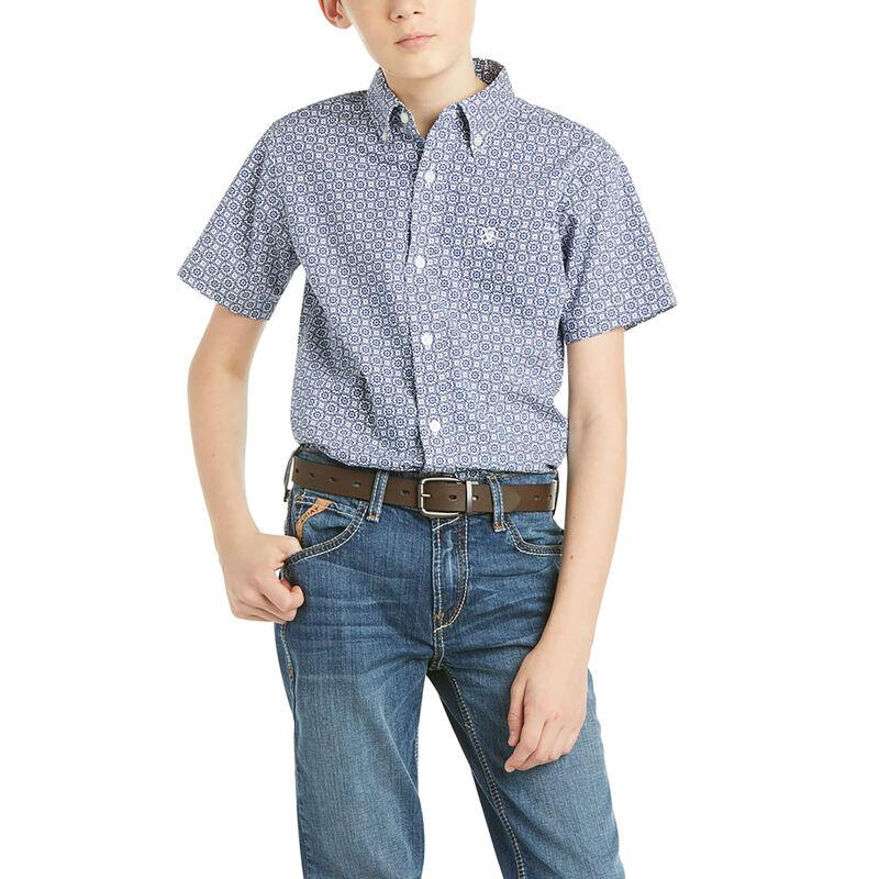 Boys Birkin Classic Fit Short Sleeve Shirt from Ariat