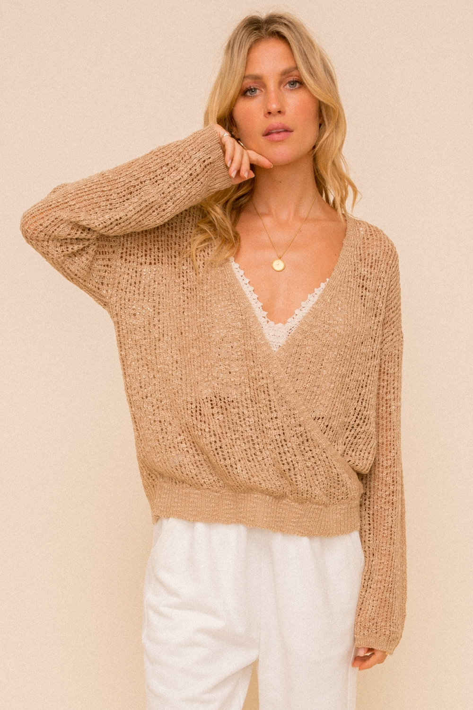 Surplice Crossover Sweater from Hem & Thread