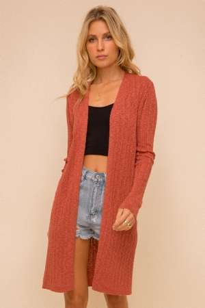 Slub Yarn Cardigan from Hem & Thread