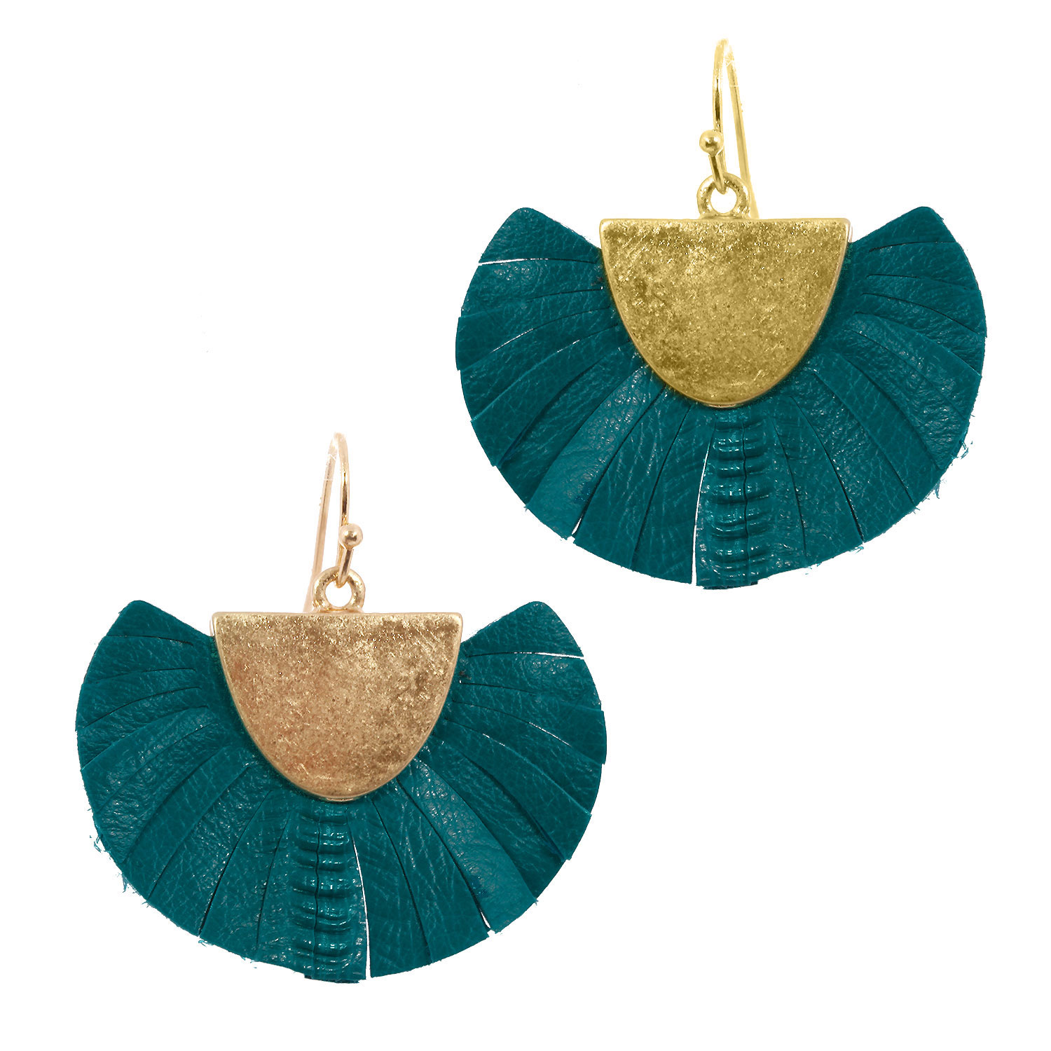 Fan Leather Tassel Earring