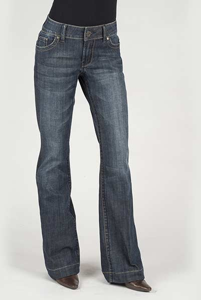 Blue Denim City Trouser from Stetson