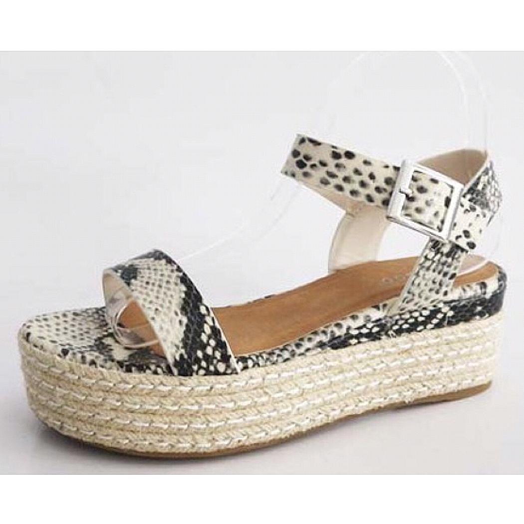 Snake Skin Platform Sandal
