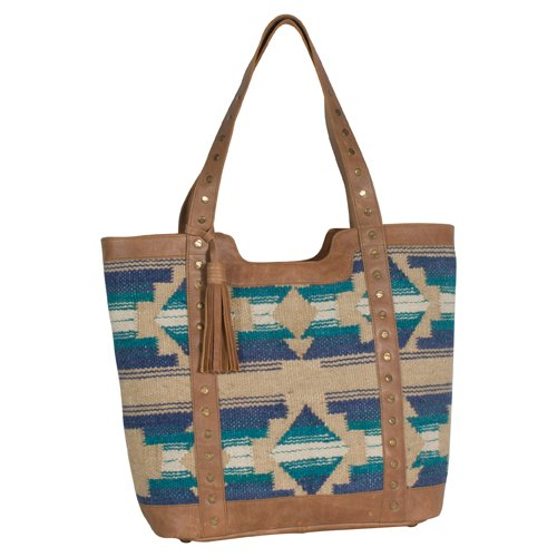 Aztec Tote from Tony Lama - Turquoise/Blue