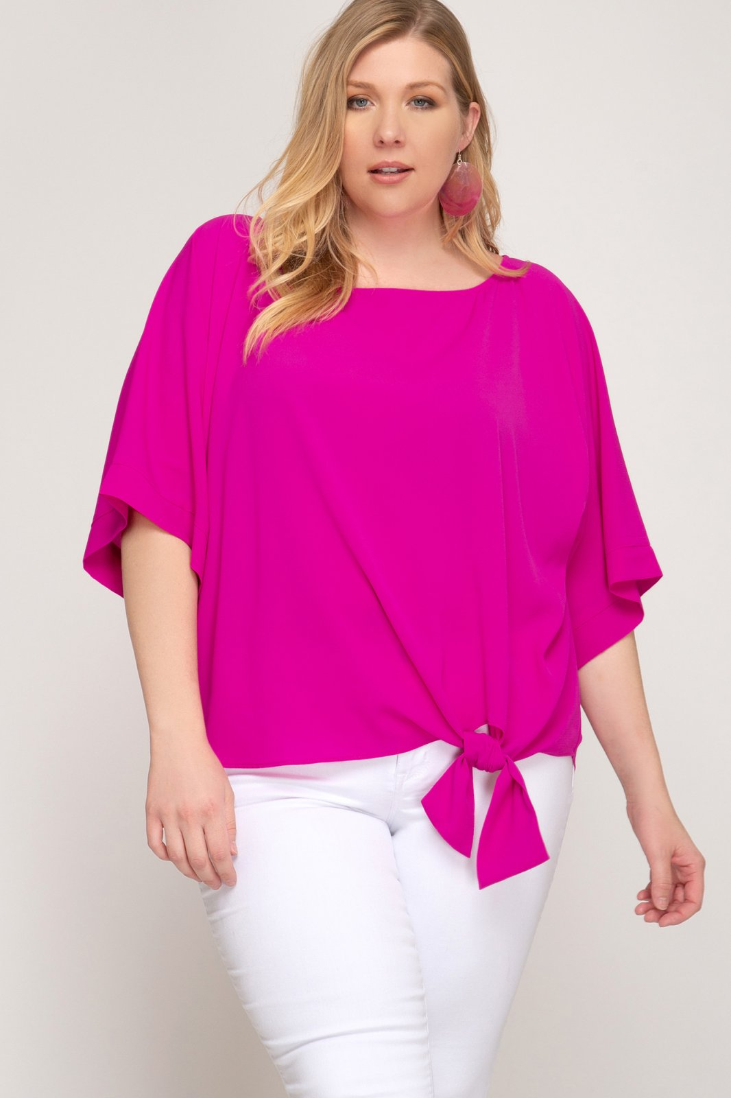 Kimono Tie Front Top (Plus Sizing) from She & Sky
