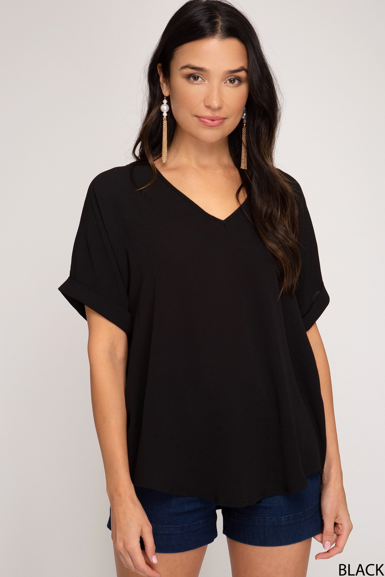 Drop Shoulder Top from She & Sky (Plus Sizing)